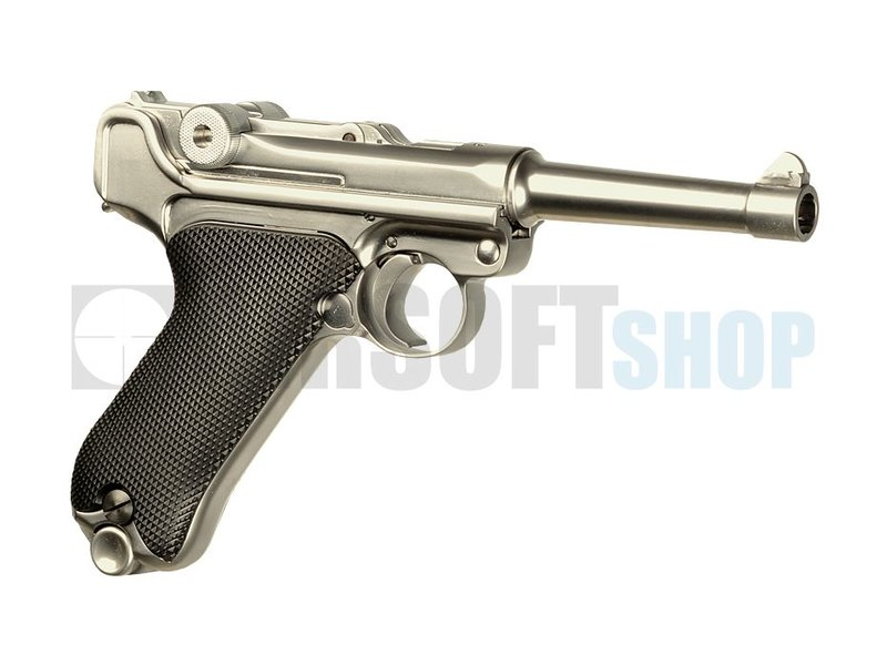 WE P08 Full Metal Silver GBB