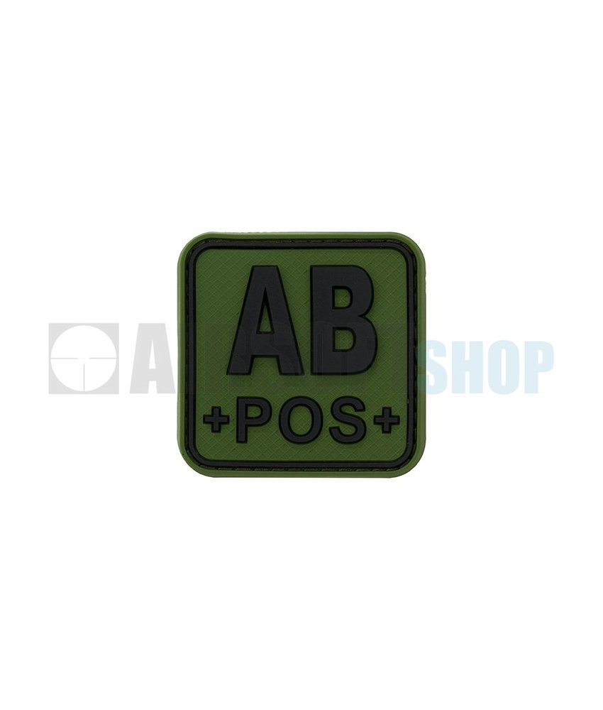 JTG Bloodtype Square PVC Patch AB POS (Forest)