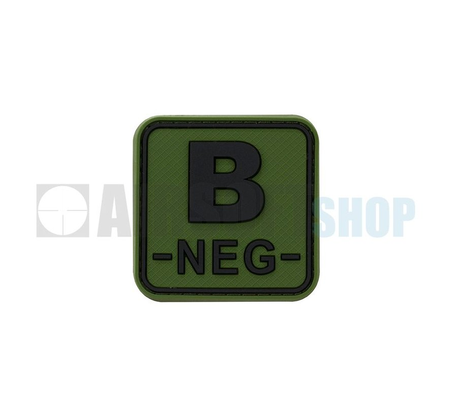 Bloodtype Square PVC Patch B NEG (Forest)
