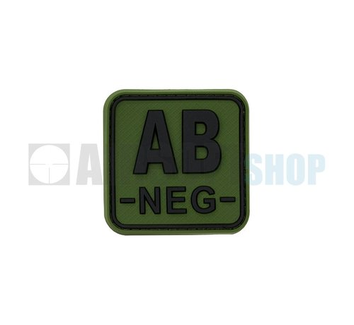 JTG Bloodtype Square PVC Patch AB NEG (Forest)