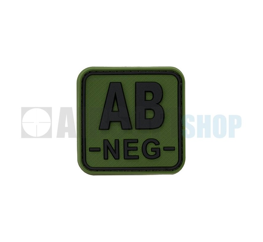 Bloodtype Square PVC Patch AB NEG (Forest)