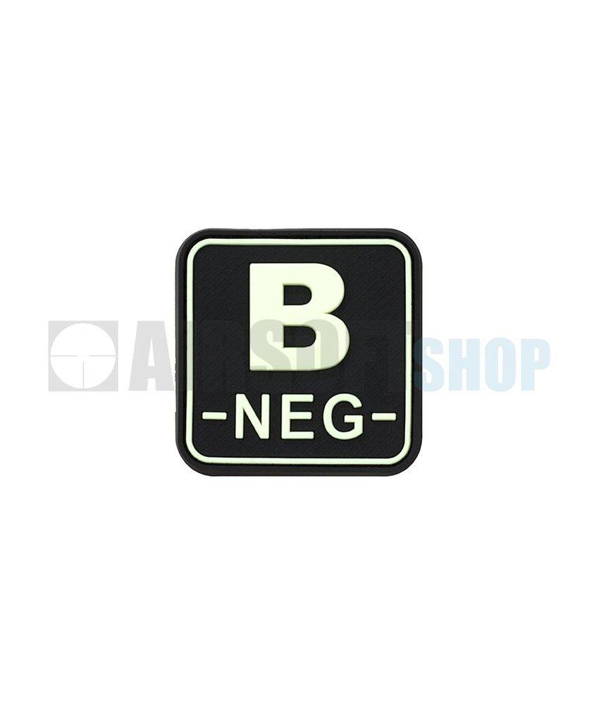 JTG Bloodtype Square PVC Patch B NEG (Glow In The Dark)