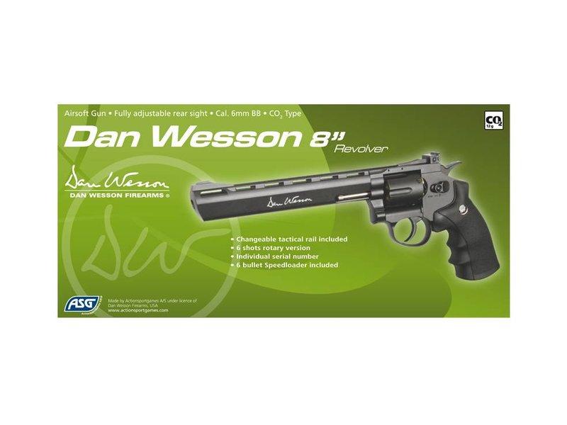"ASG Dan Wesson 8"" Revolver Gray (2.7 Joule)"