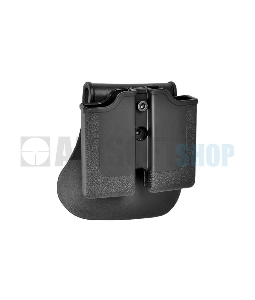 IMI Defense M1911 / P220 Double Magazine Pouch (Black)