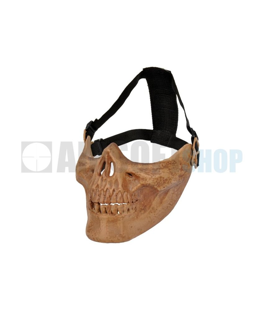 Pirate Arms Skull Half Face Mask (Bone)