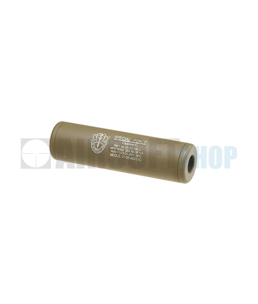 King Arms LW Silencer 110mm Special Forces CW/CCW (Dark Earth)