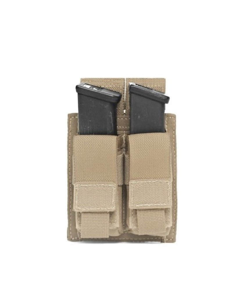Warrior Double Direct Action Pistol Pouch (Coyote Tan)