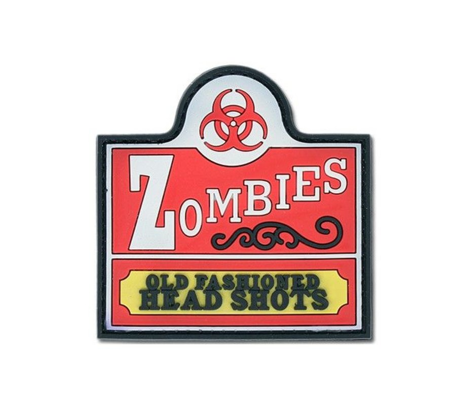 Zombies Old Fashioned Head Shots Patch