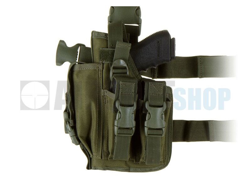 Invader Gear SOF Pistol Holster LEFT (Olive Drab)