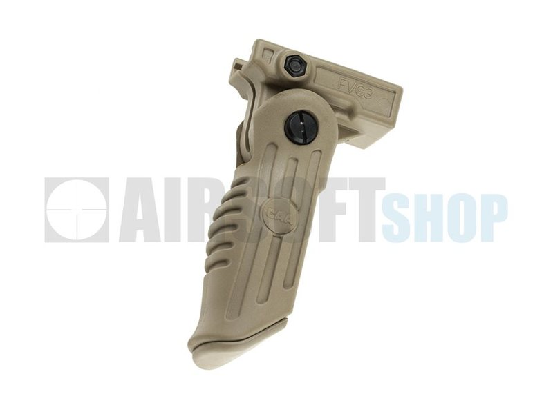 CAA Tactical 3 Position Front Arm Folding Grip (Khaki)