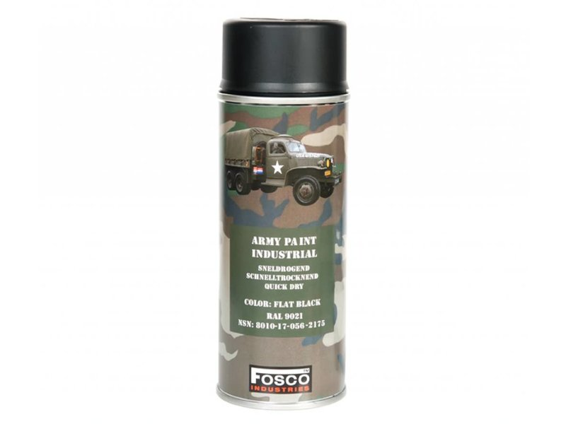 Fosco Spuitbus Flat Black 400ml