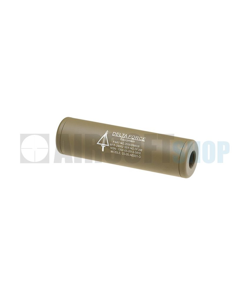 King Arms LW Silencer 110mm US Delta Force CW/CCW (Dark Earth)