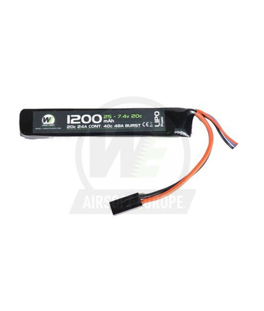 WE LiPo 7.4V 1200mAh 20C Stick Type