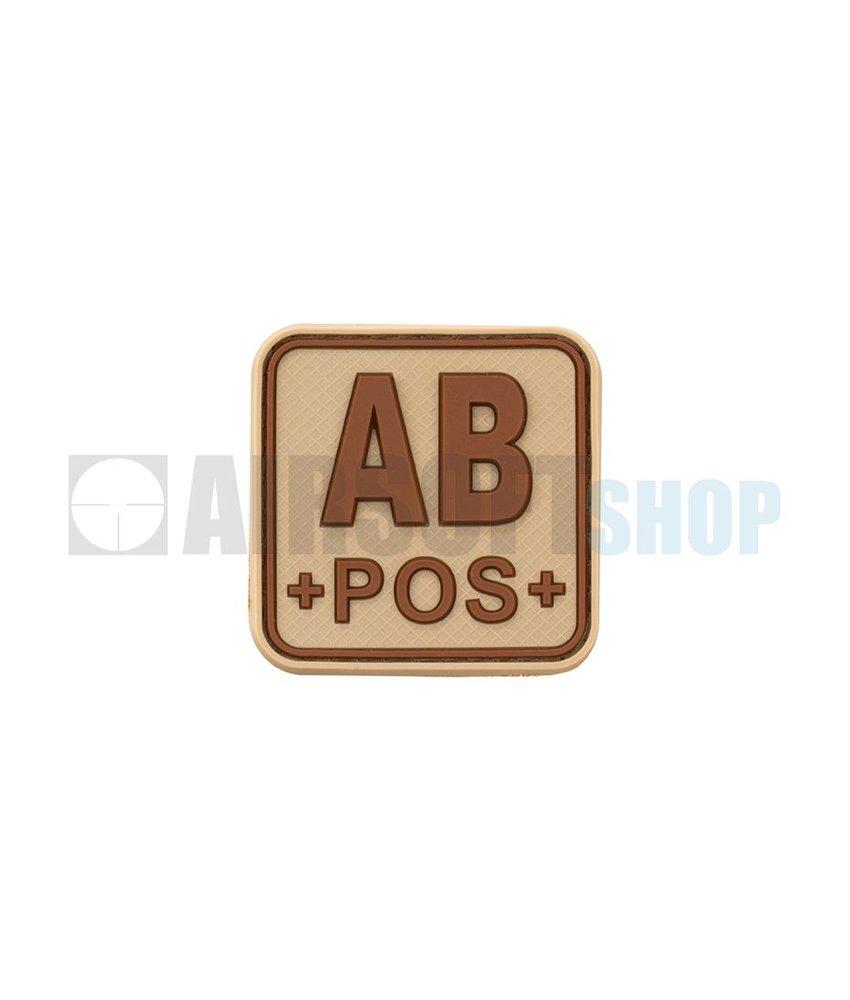 JTG Bloodtype Square PVC Patch AB POS (Desert)
