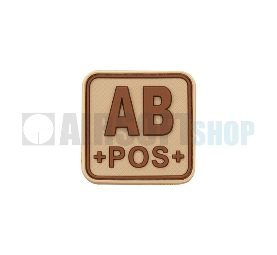Bloodtype Square PVC Patch AB POS (Desert)