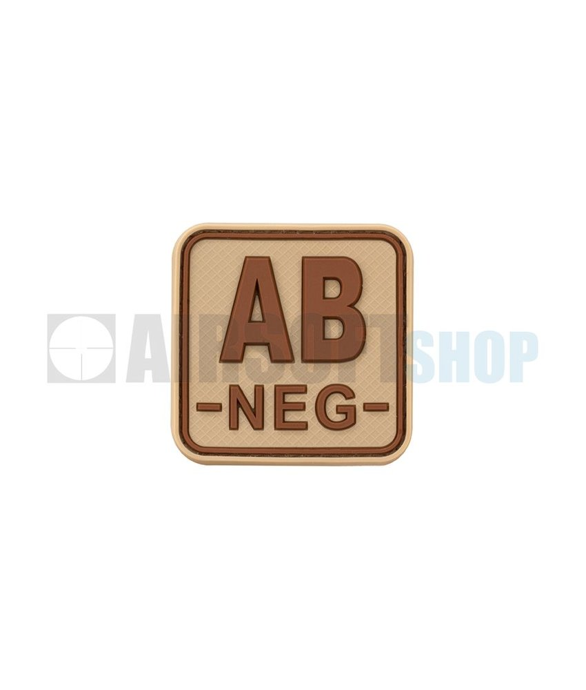 JTG Bloodtype Square PVC Patch AB NEG (Desert)