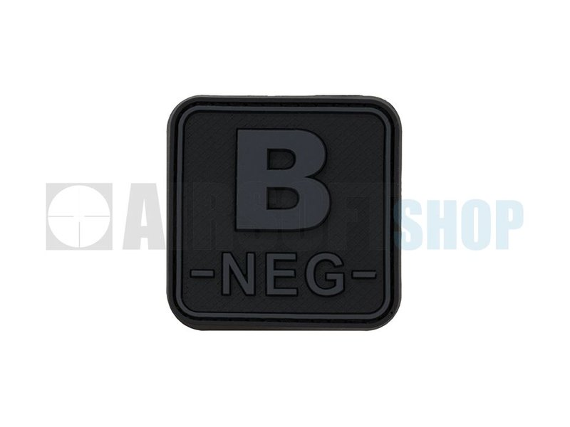 JTG Bloodtype Square PVC Patch B NEG (Blackops)