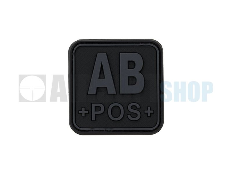 JTG Bloodtype Square PVC Patch AB POS (Blackops)