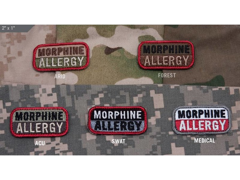 MIL-SPEC MONKEY Morphine Allergy Patch