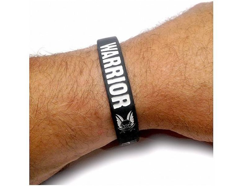 Warrior Silicone Wrist Band (Black)