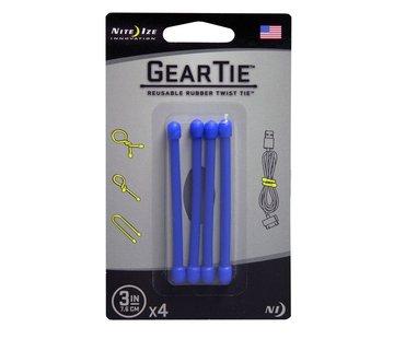 "Nite Ize Gear Tie 3"" 4Pack (Blue)"