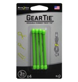 "Nite Ize Gear Tie 3"" 4Pack (Lime)"