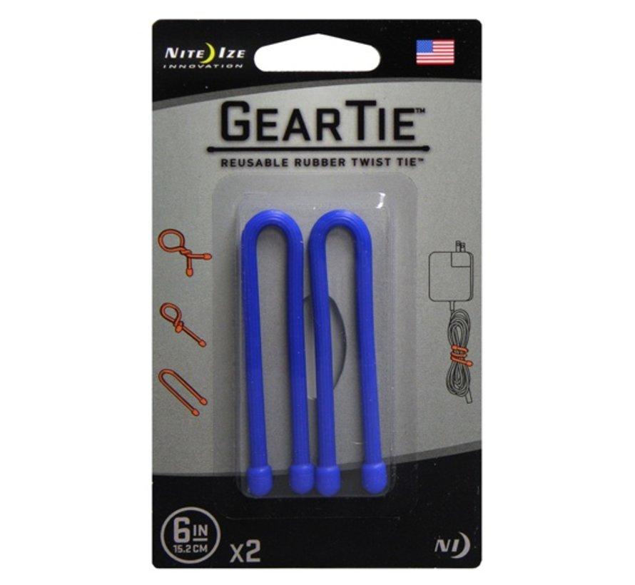 """Gear Tie 6"""" 2Pack (Blue)"""