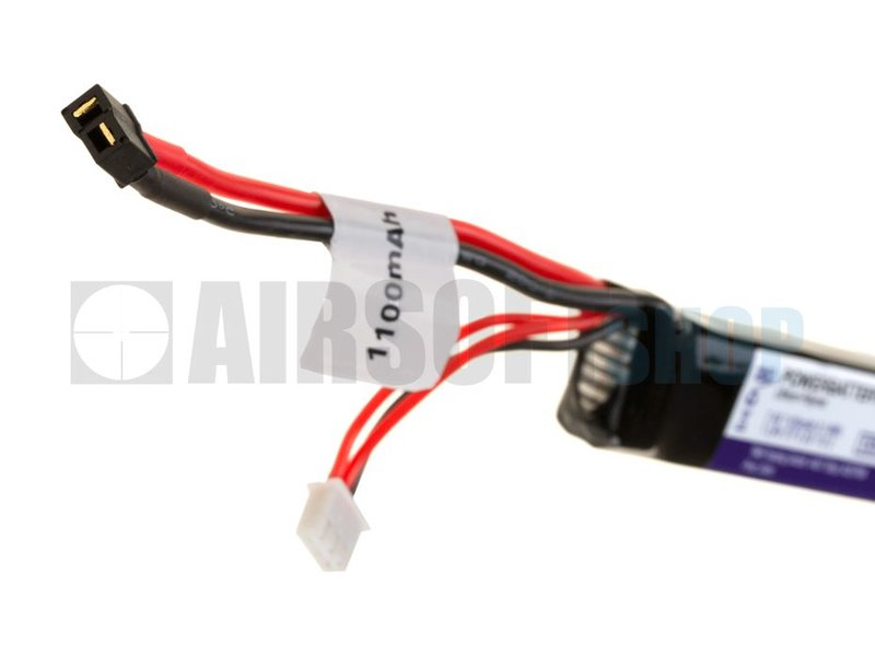 Pirate Arms LiPo 7.4V 1100mAh 15C Stick Type (Mini Deans)