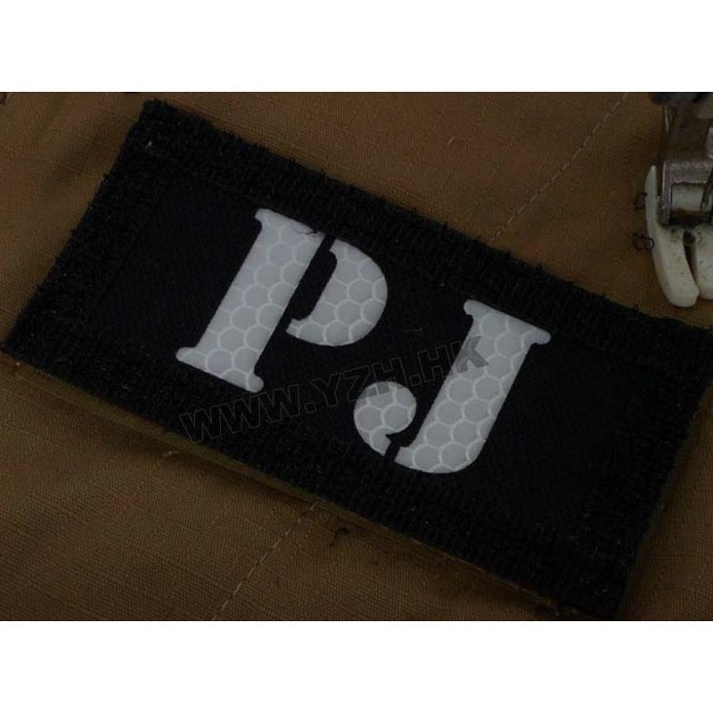 Emerson PJ IR Callsign Patches (Black/Tan)