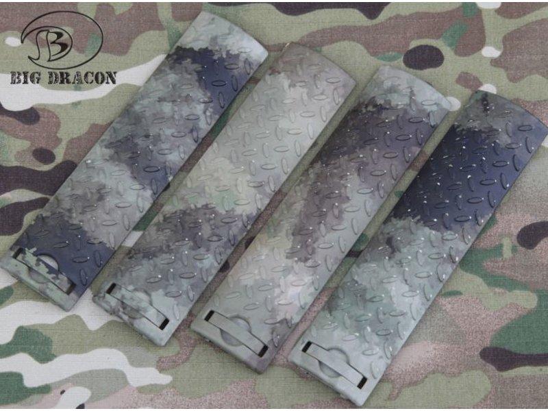 Big Dragon EGO Diamond Plate Rail Covers (A-TACS AU)