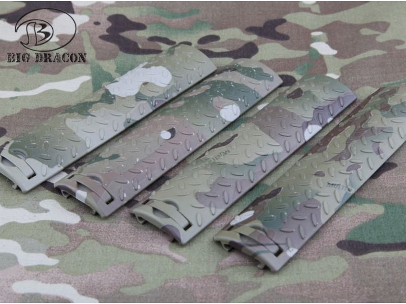 Big Dragon EGO Diamond Plate Rail Covers (Multicam)