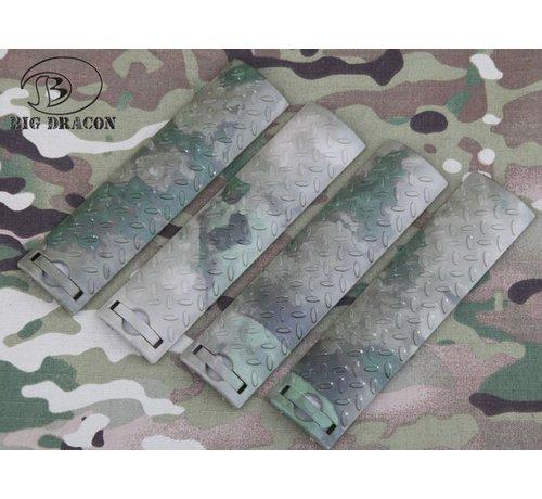 Big Dragon EGO Diamond Plate Rail Covers (A-TACS FG)