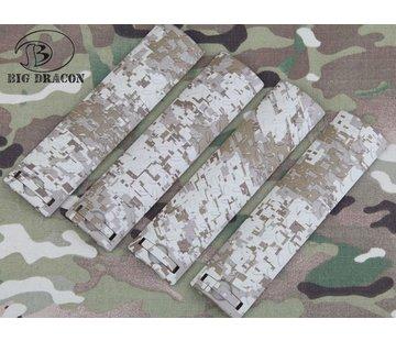 Big Dragon EGO Diamond Plate Rail Covers (Digital Desert)