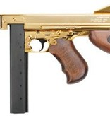 King Arms Thompson M1A1 Military REAL WOOD - GOLD