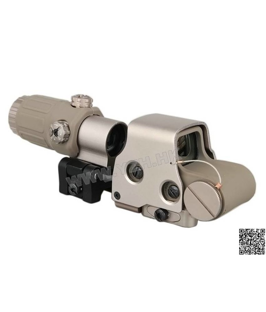 Emerson Holosight EXPS3 Red Dot + G33 3x Magnifier (Desert)