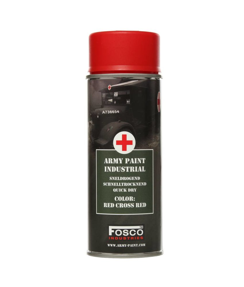 Fosco Spuitbus Red Cross Red 400ml