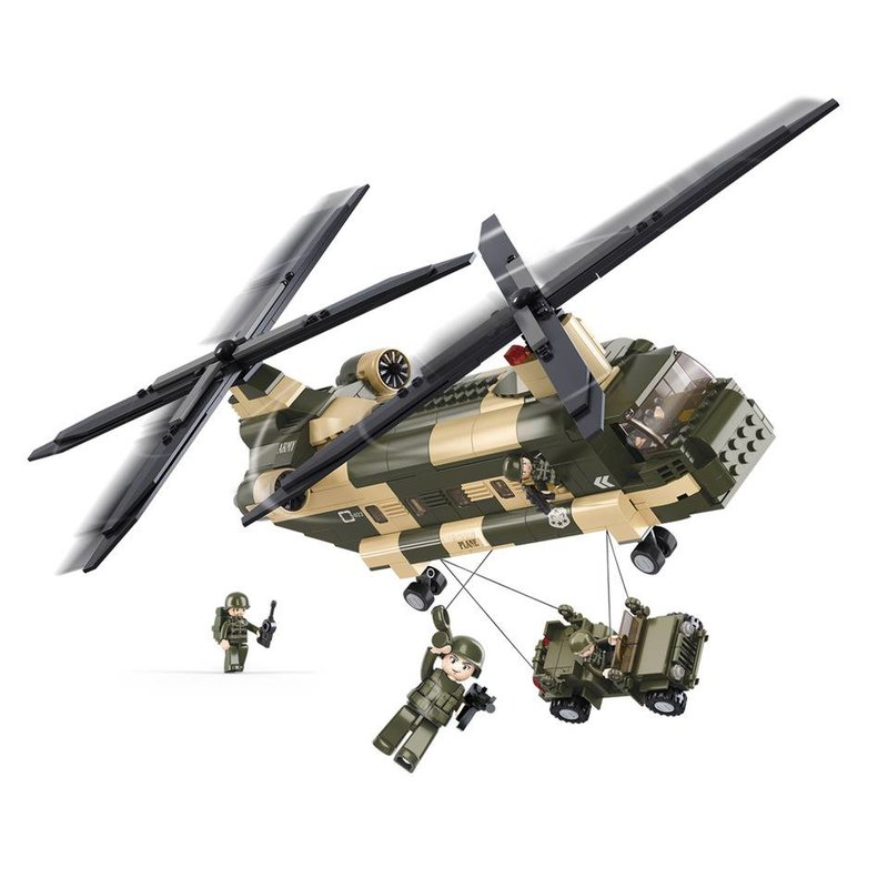Sluban Chinook Helicopter M38-B0508