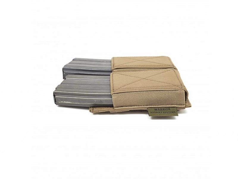 Warrior Double Elastic Mag Pouch (Coyote Tan)