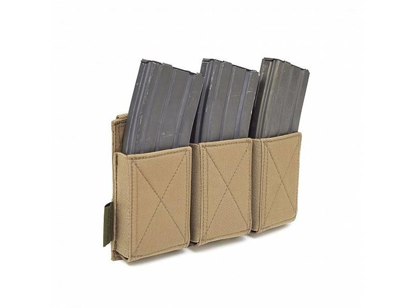 Warrior Triple Elastic Mag Pouch (Coyote Tan)