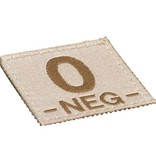 Claw Gear O NEG Bloodgroup Patch (Desert)