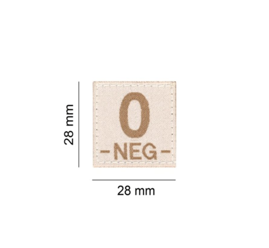 O NEG Bloodgroup Patch (Desert)