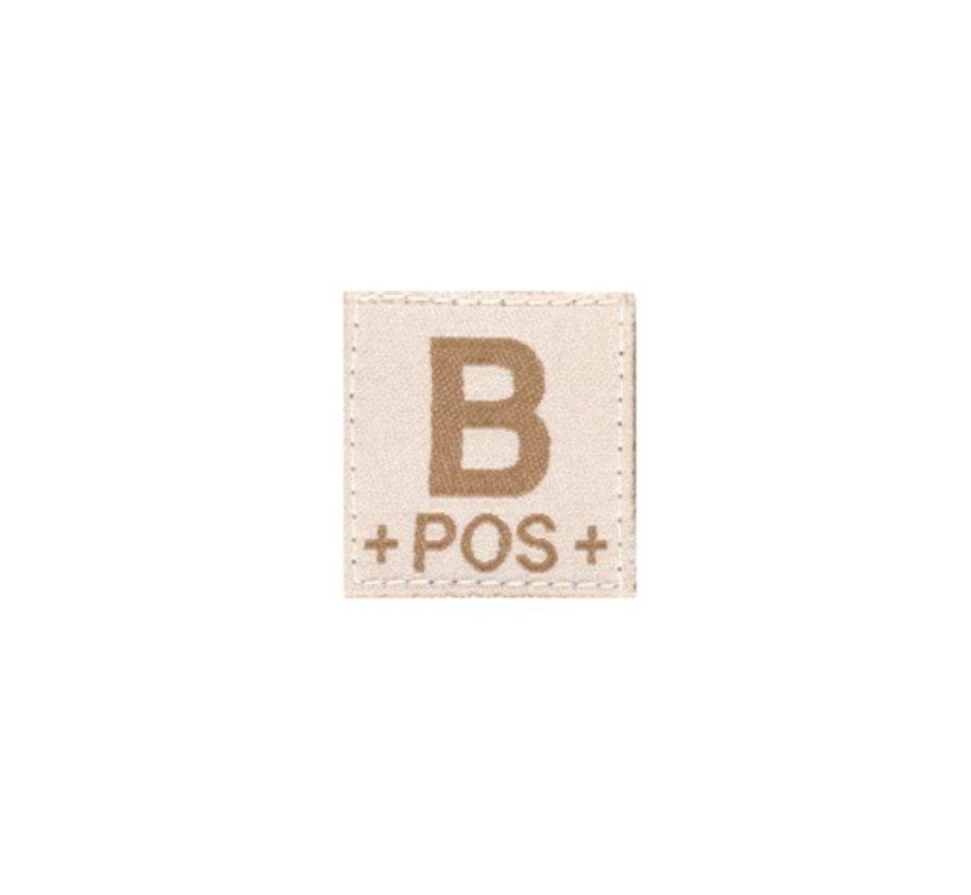 B POS Bloodgroup Patch (Desert)