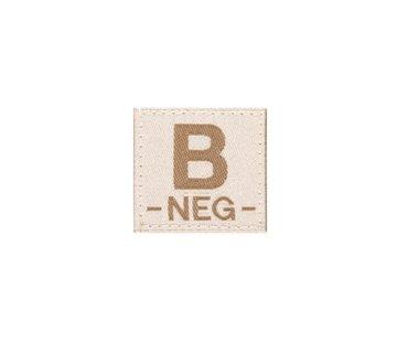 Claw Gear B NEG Bloodgroup Patch (Desert)