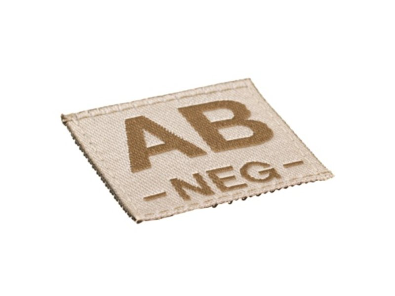Claw Gear AB NEG Bloodgroup Patch (Desert)