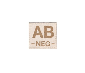 Claw Gear AB NEG Bloodgroup Patch (Desert)