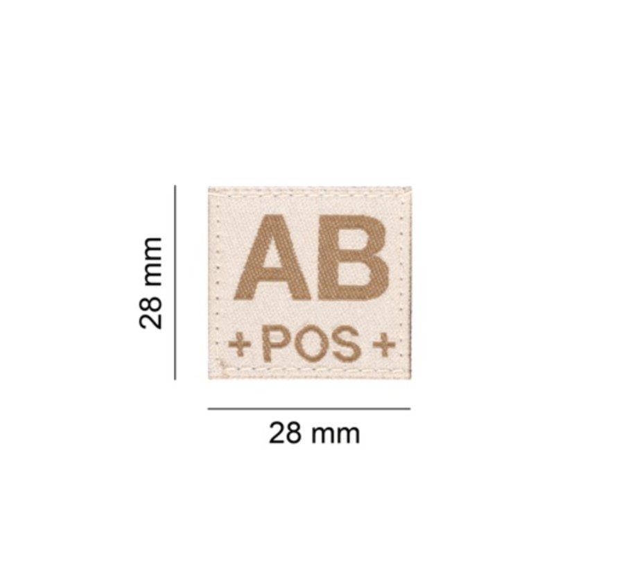AB POS Bloodgroup Patch (Desert)