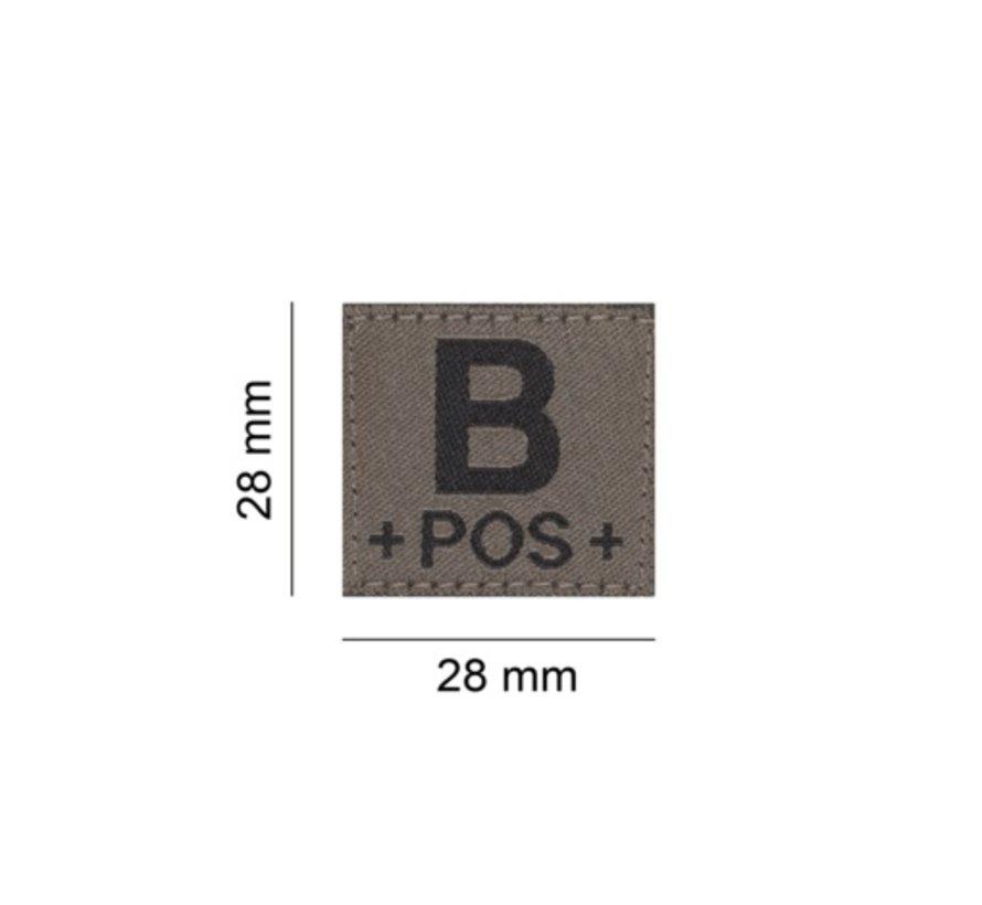 B POS Bloodgroup Patch (RAL7013)
