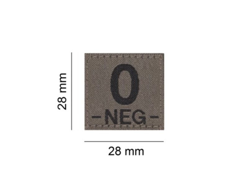 Claw Gear O NEG Bloodgroup Patch (RAL7013)