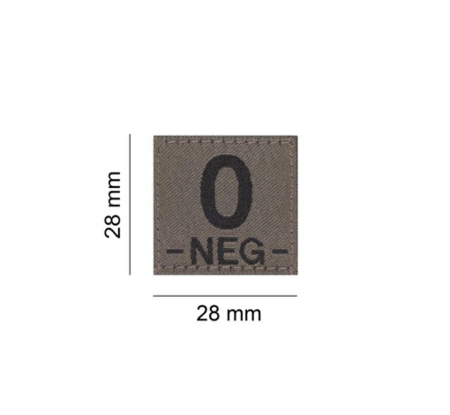 O NEG Bloodgroup Patch (RAL7013)