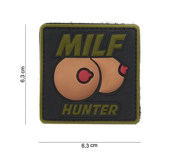 101 Inc MILF Hunter PVC Patch (Olive Drab)
